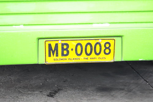 number license plate solomon islands honiara