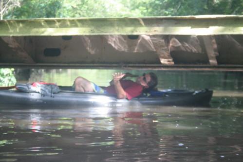 Kayak limbo!