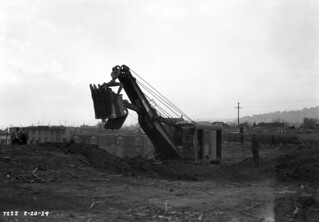First shovel on second Denny Regrade, 1929