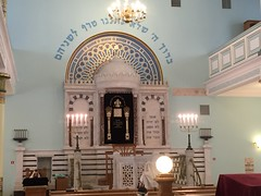 Inside the synagogue in Riga