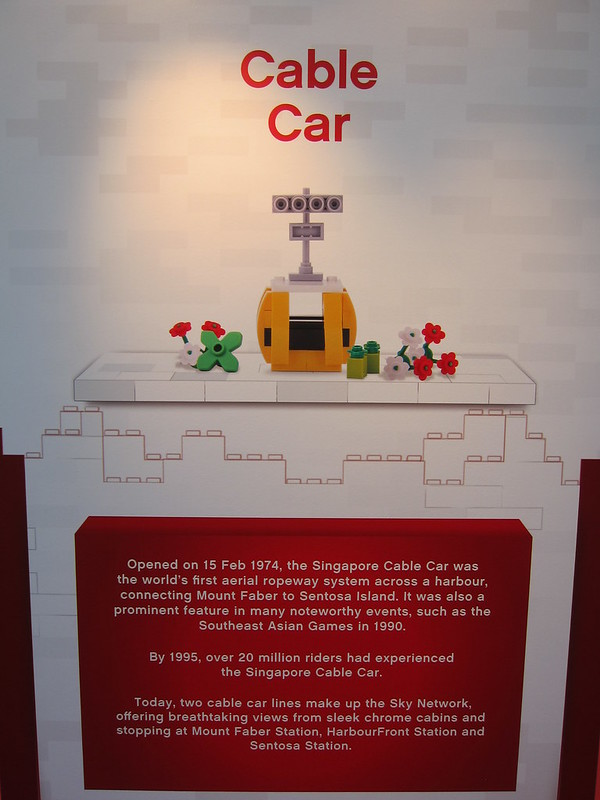 LEGO SG50 Limited Edition Singapore Icons Mini Build - Cable Car - Poster
