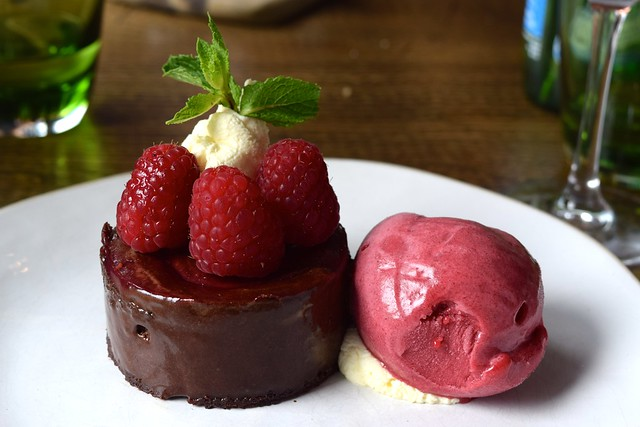 Chocolate & Raspberry Mousse at The Boatyard, Isle of Man