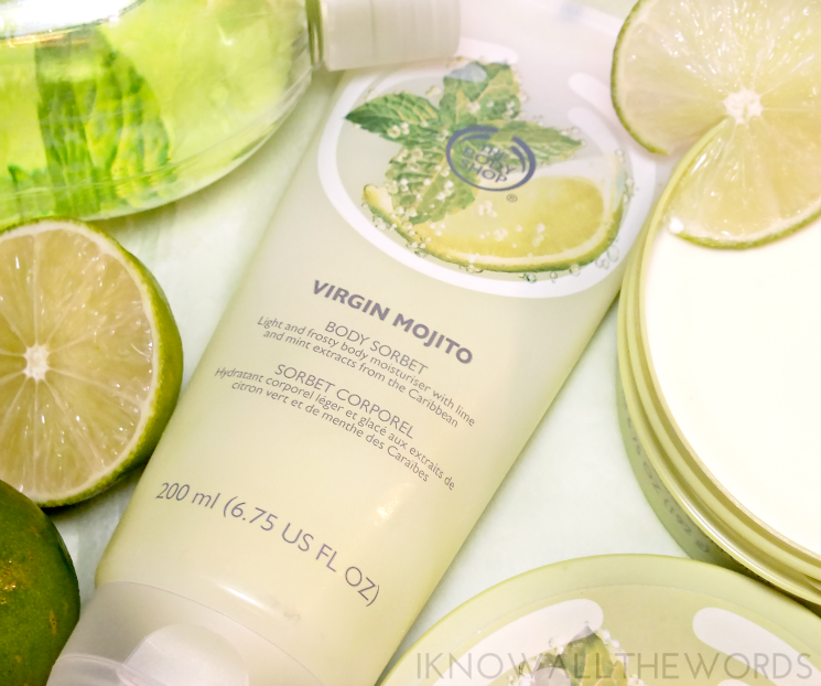 the body shop virgin lime mojito body splash, sorbet, and body butter (3)