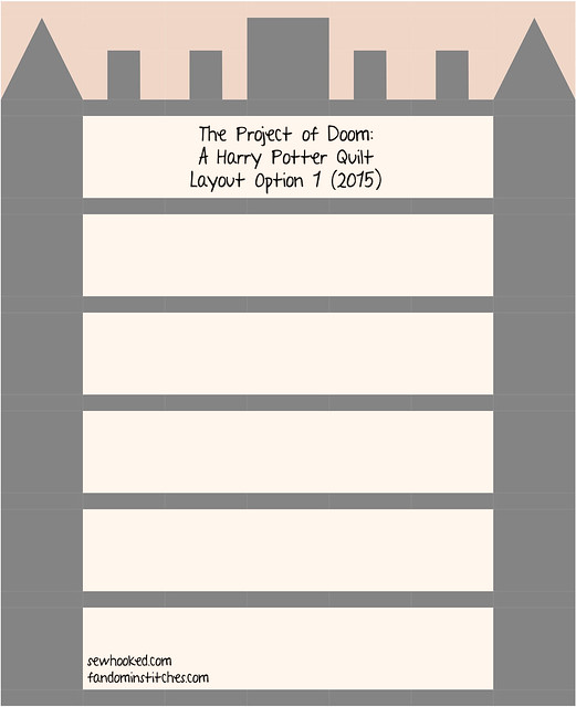 The Project of Doom - A Harry Potter Quilt (2015 Layout 1)