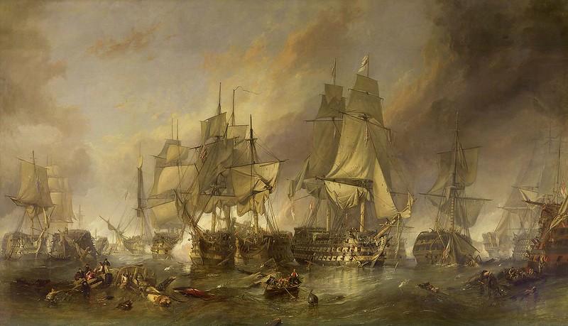 The Battle of Trafalgar by William Clarkson Stanfield