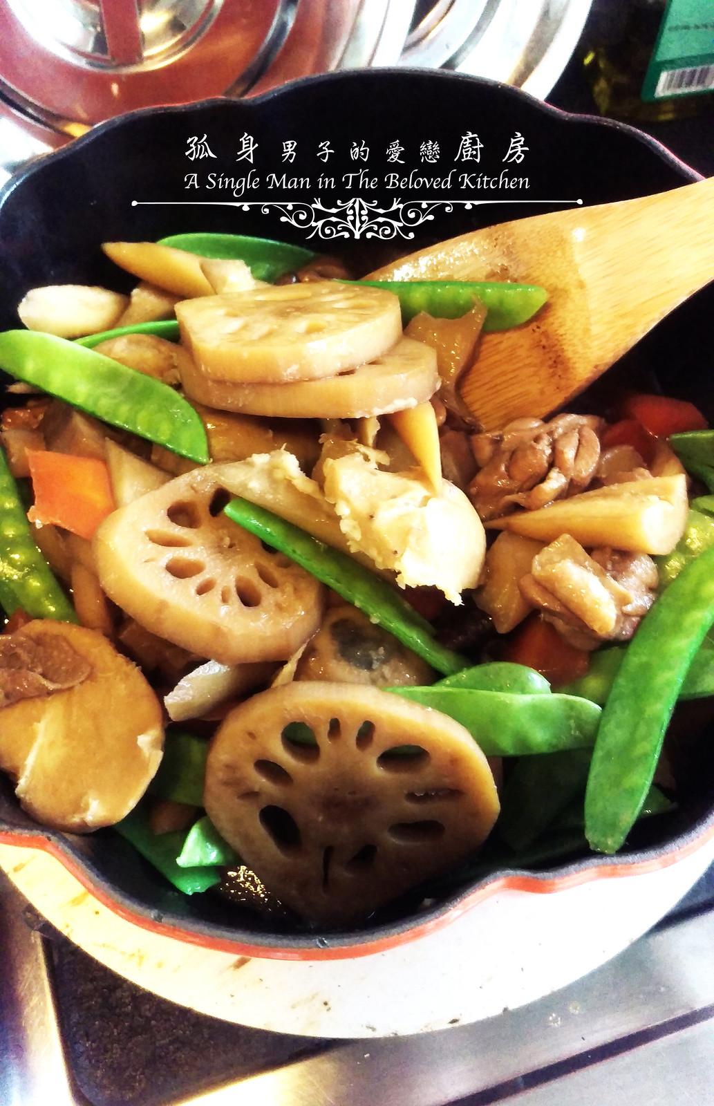 孤身廚房-食譜書《常備菜》試作——筑前煮、醬煮金針菇。甜滋滋溫暖和風味20