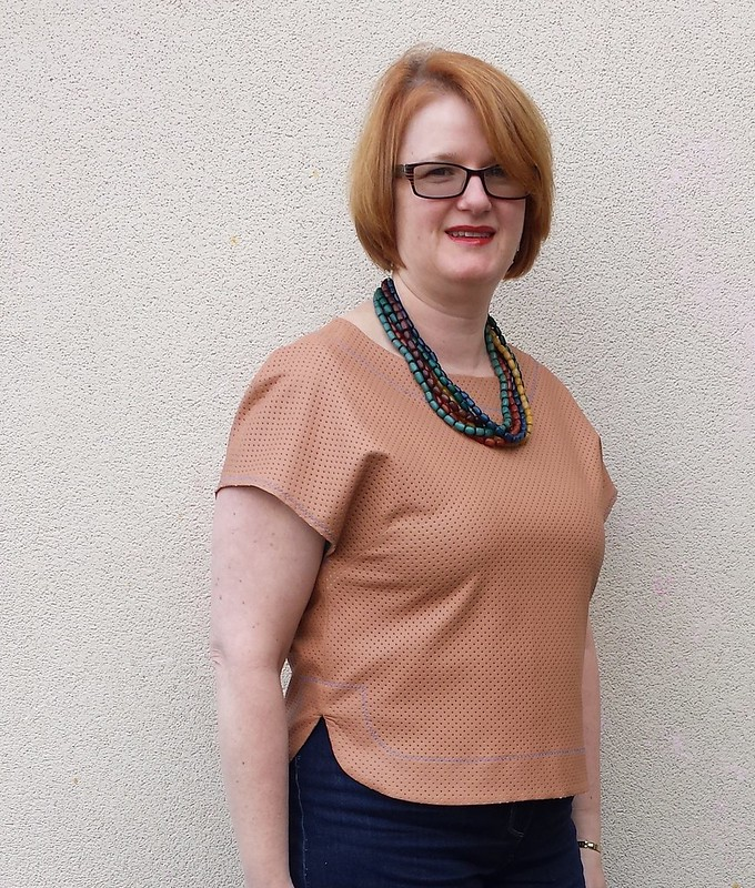Style Arc Skye top in pleather from Darn Cheap Fabrics