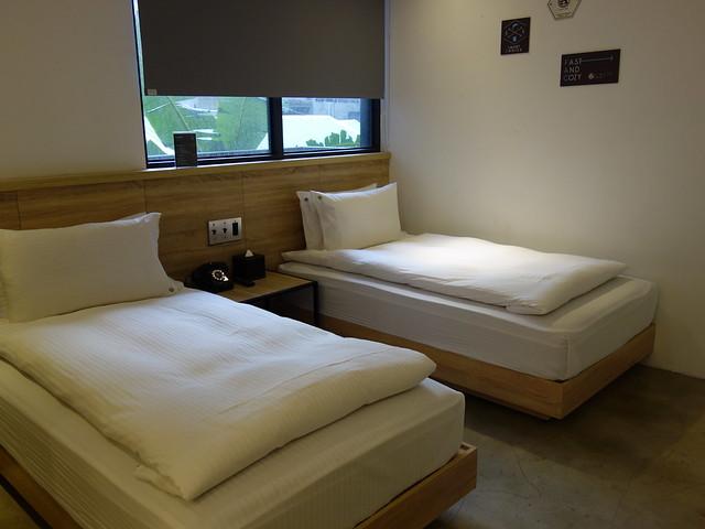 經典兩小床客房@台中鵲絲旅店