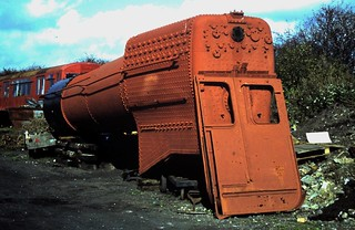 """90-259  The boiler and cab sides fron ex-GWR No. 6989 'Wightwick Hall"""""""