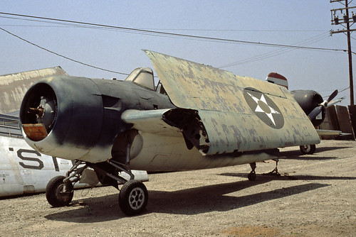 Grumman F-4F Wildcat at the Planes of Fame Museum, 1980