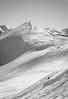 Alberta Peak with Skier below