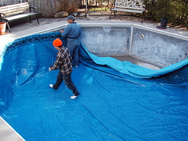 installing new pool liner flickr photo sharing