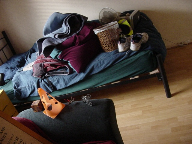Stuff on bed