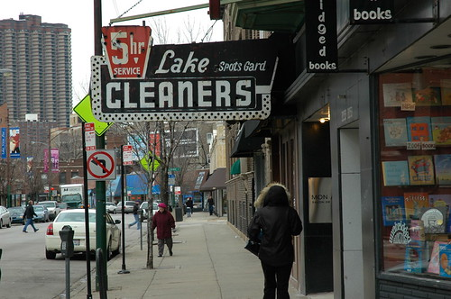 Broadway Cleaners (sign only - business defunct)