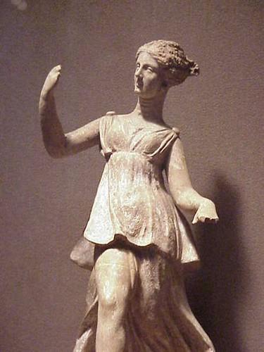 Terracotta figurine of a Greek goddess Nike Tanagra ...