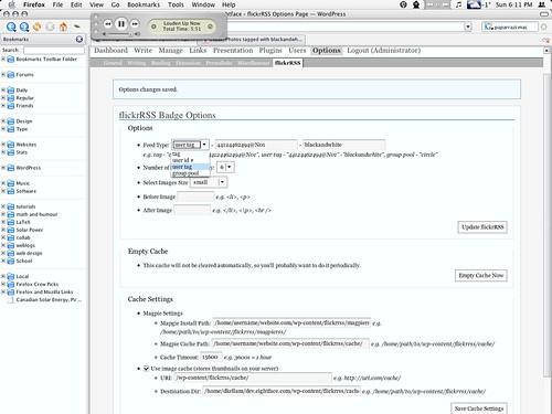 flickrRSS 1.2 plugin for WordPress