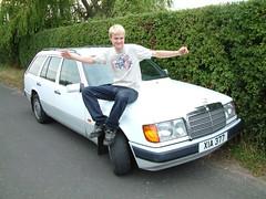 mercedes-benz w124(0.0), mercedes-benz w201(0.0), sedan(0.0), automobile(1.0), automotive exterior(1.0), vehicle(1.0), mercedes-benz(1.0), compact car(1.0), mercedes-benz 500e(1.0), bumper(1.0), land vehicle(1.0), luxury vehicle(1.0), vehicle registration plate(1.0),