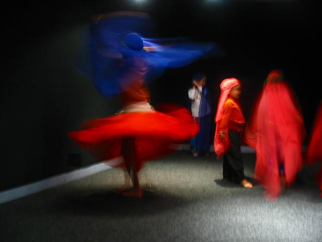 Danse avec voile