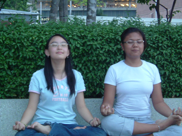 me and siti.. meditating, Fujifilm FinePix A205S