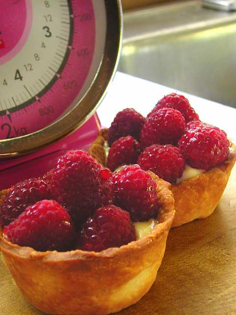 raspberry custard tarts | Flickr - Photo Sharing!