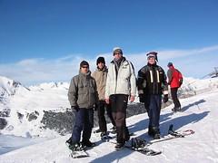 ski(0.0), skiing(0.0), ski touring(0.0), summit(0.0), ridge(0.0), nordic skiing(0.0), snowshoe(1.0), ski equipment(1.0), winter sport(1.0), footwear(1.0), mountain(1.0), winter(1.0), piste(1.0), sports(1.0), snow(1.0), mountaineering(1.0), mountain range(1.0), extreme sport(1.0), mountain guide(1.0),