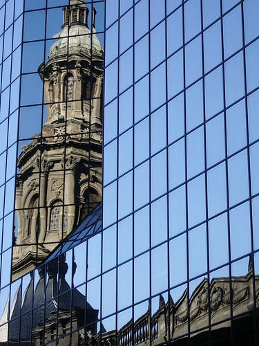 Reflection of Santiago Cathedral