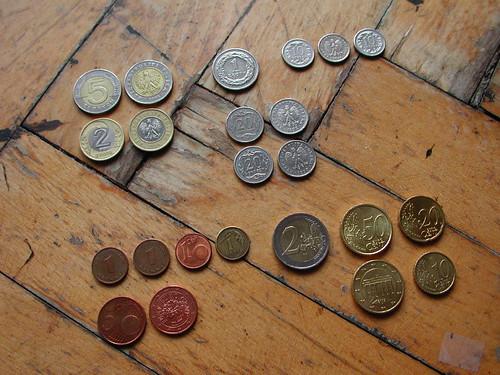 Polish Zloty and Euro Coins