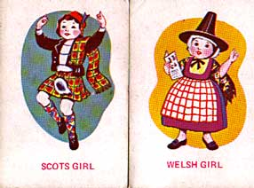Scots girl, Welsh girl