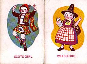 Scots girl, Welsh girl