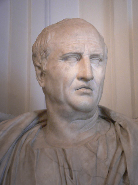 Bust of 1st century BCE orator Cicero
