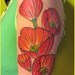 poppy tattoo by bitsandbobbins