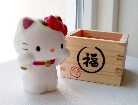 Hello Kitty as Maneki Neko III