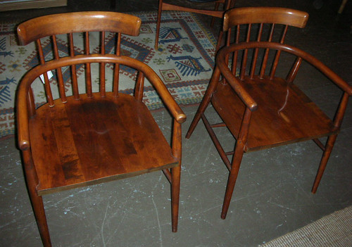Paul McCobb style wood chairs