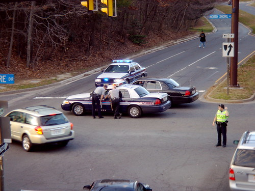 cops at accident
