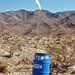 Water can for use by Mexican immigrants entering the US by walking across the Anza-Borrego desert. by Robin Dude