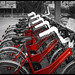Red Bicycle Parking
