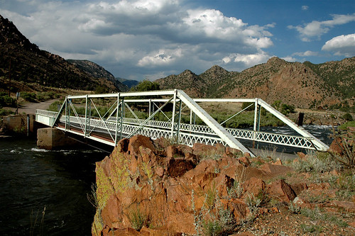travel bridge sky color water clouds river landscape photo colorado rocks photos bridges historic rockymountains geology span arkansasriver bridging 200506 texascreek bridgepixing fremontcounty texascreekbridge bridgepix bridgeblog historicbridgescolorado