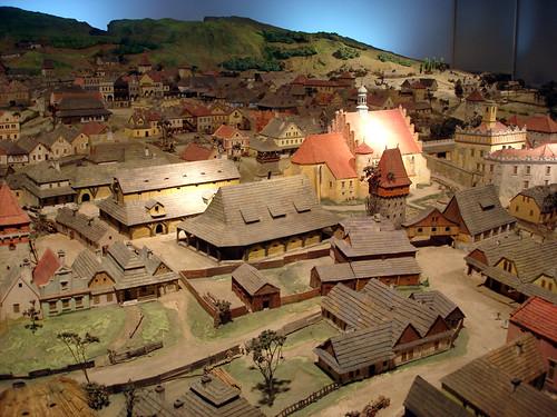 A model of the Wieliczka Salt Mine.