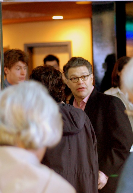 Al Franken Arriving At The Rive...