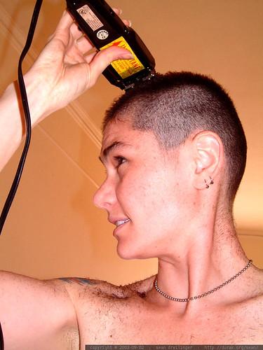 shaving her own head   dscf6497
