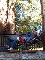 austin and rachel telecommuting from la honda redwoo…