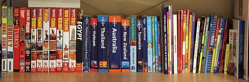 The travel book shelf