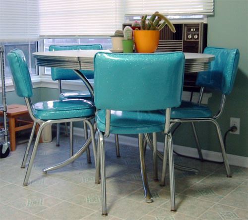 my new 50 39 s diner table and chairs flickr photo sharing