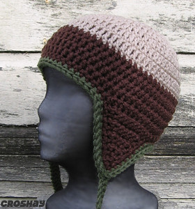 Free Crochet Basic Earflap Hat Pattern : EARFLAP BEANIE CROCHET PATTERN ? Crochet For Beginners