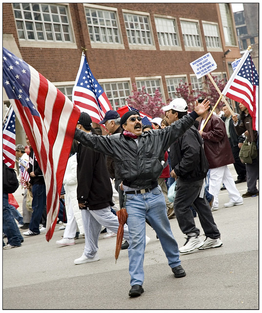 Immigration Rally: May Day, 2006 - The Flag Guy