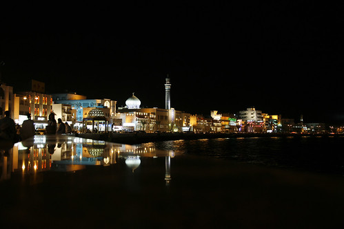 Muscat Corniche by night, Oman
