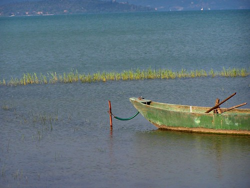 A boat on the Trasimeno Lake