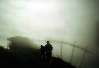 Chairlift in the clouds