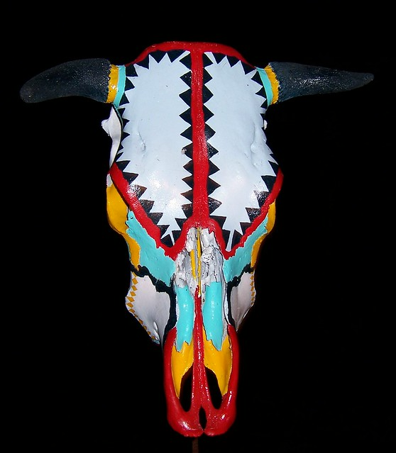 Pictures of Painted Cow Skulls http://www.flickr.com/photos/tikisrtahawaii/146622359/