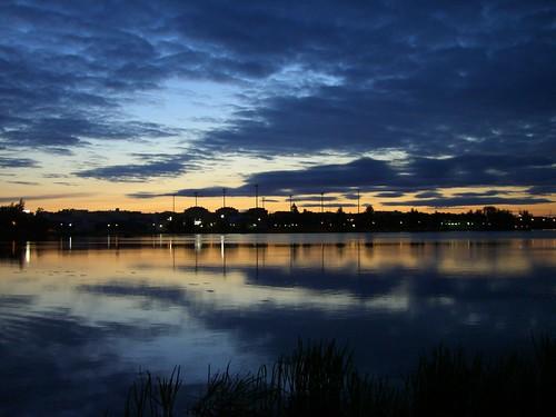 sunset finland midnight